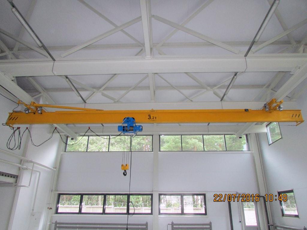 Кран подвесной однопролетный 3,2 тонны.